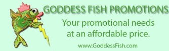 goddess fish button